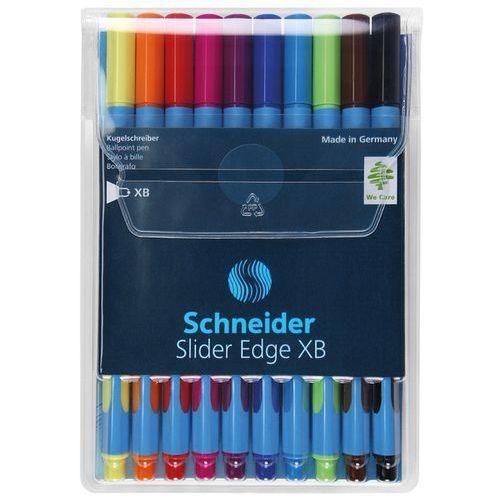 Zestaw długopisów w etui SCHNEIDER Slider Edge, XB, 10 szt., miks kolorów, SR152290