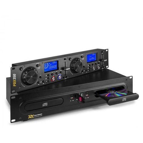 Power Dynamics PDX350, podwójny didżejski odtwarzacz/sterownik CD/USB, CD/ USB/ MP3, czarny (8715693306415)