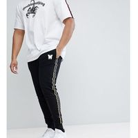 Good for nothing plus skinny joggers in black with side stripes - black