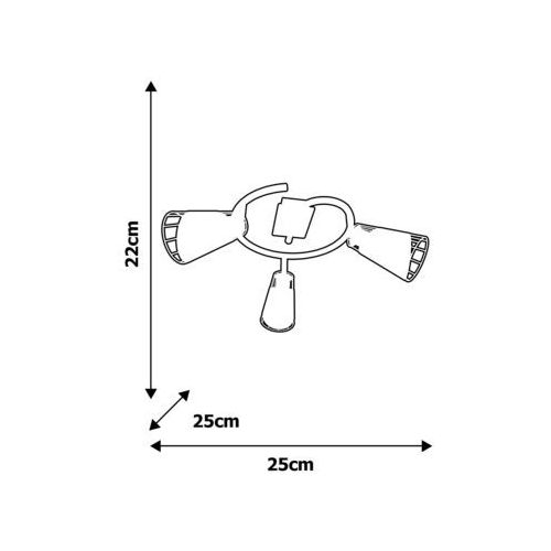 Oświetlenie punktowe RICK 3xE14/40W/230V, ML5568