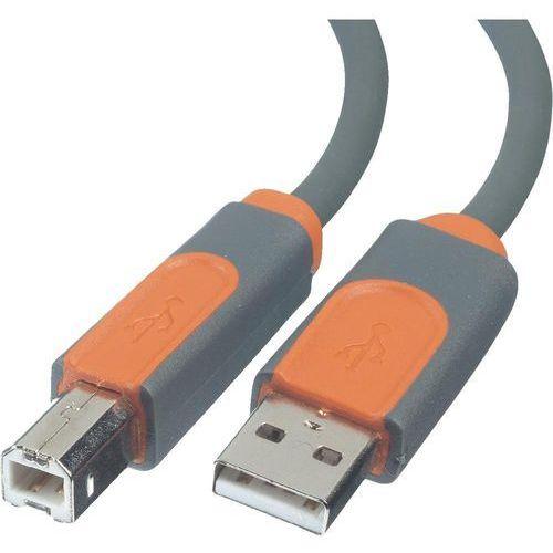 Kabel usb 2.0  cu1000cp0.9m, [1x złącze męskie usb 2.0 a - 1x złącze męskie usb 2.0 b], 0.9 m, szary marki Belkin