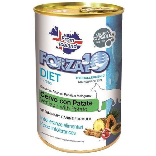 Forza10 diet 400g dla psa: smak - jeleń i ziemniaki dostawa 24h gratis od 99zł (8020245011908)