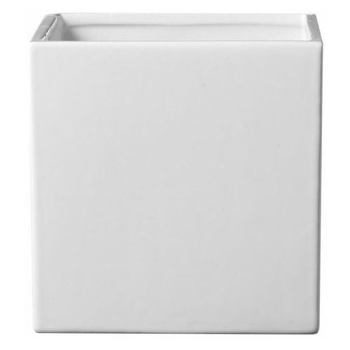 Osłonka doniczki SK Soendgen Keramik Latina kwadratowa 24 cm biała, C0196BI