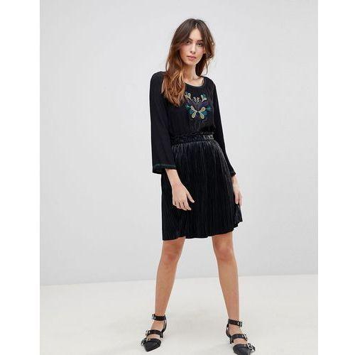 pleated mini skirts - black, See u soon