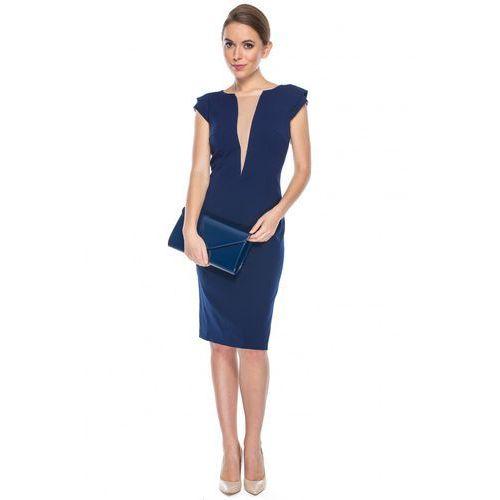Sukienka z tiulową wstawką - GaPa Fashion, 1 rozmiar
