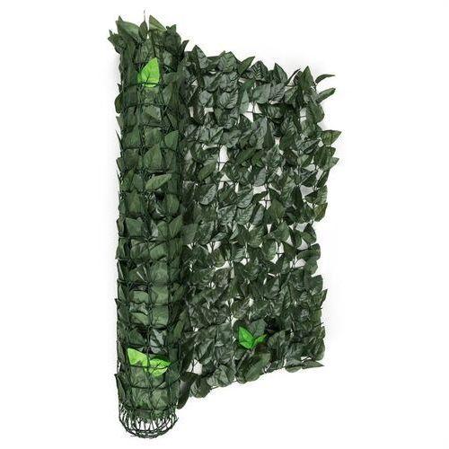 Blumfeldt fency dark leaf osłona balkonowaosłona przed wiatrem 300x100cm ciemnozielony miks (4260435913498)