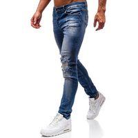 Spodnie jeansowe męskie niebieskie denley 1009, Otantik