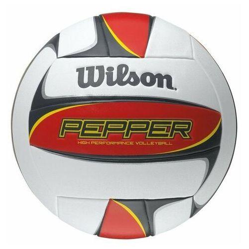 Piłka do siatkówki Wilson PEPPER red 5109 - Czarno-czerwono-żółty