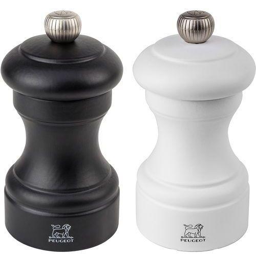 Zestaw młynków do soli i pieprzu na stół 10cm Peugeot Bistro czarny/biały (PG-2-24291) (4006950024291)
