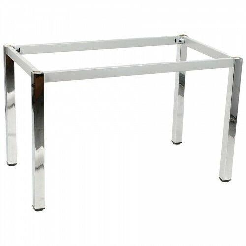 Stelaż ramowy stołu chromowany, 136x76 cm, noga kwadratowa marki Stema - ny