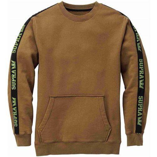 bluza SUPRA - Streeter Crew Olive/Blk (382) rozmiar: M, kolor brązowy