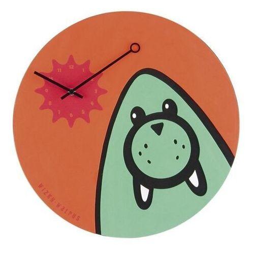 Zegar ścienny Wizky Walrus pomarańczowy (8717545056318)