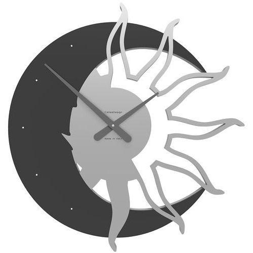 Zegar ścienny Sun & Moon CalleaDesign Swarovski crystals czarny (10-209-5)