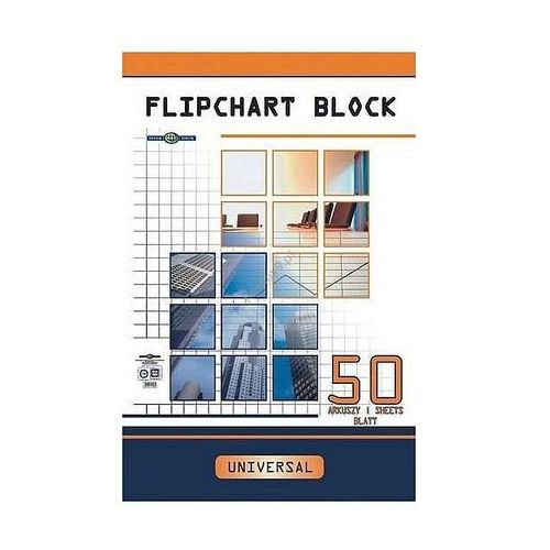 Blok do flipchartów 10 kartek kratka 100x64cm Interdruk