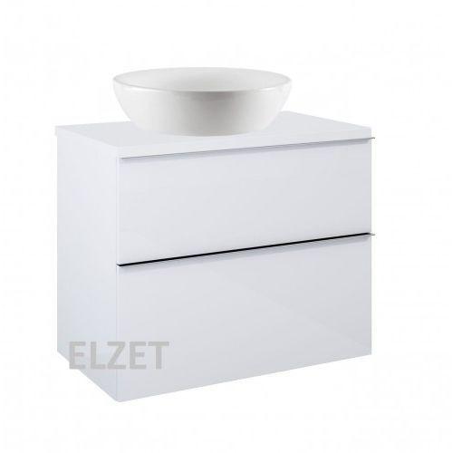 ELITA szafka Look 2S white pod umywalkę nablatową + blat 80 white 167081+166892