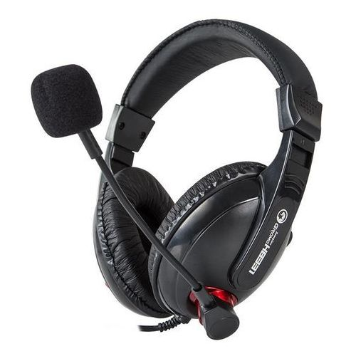 Marvo H8331 - Słuchawki stereofoniczne dla graczy z mikrofonem (czarny/czerwony)
