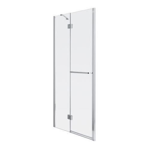 Goodhome Drzwi prysznicowe uchylne naya 120 x 195 cm szkło transparentne (3663602769743)