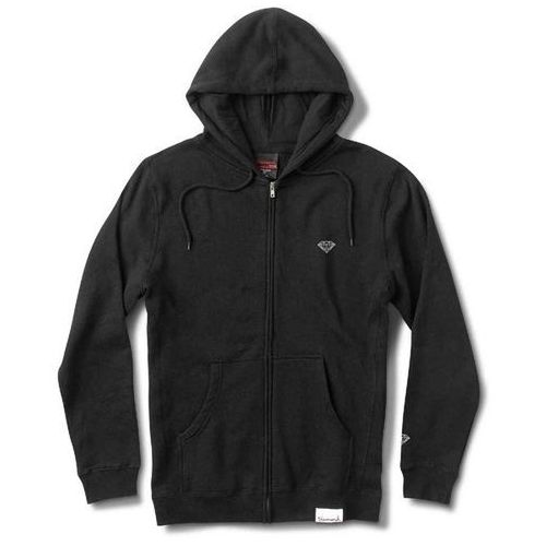Diamond Bluza - micro brilliant zip hoodie black (blk) rozmiar: 2x