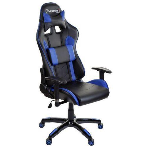 Fotel biurowy GIOSEDIO czarno-niebieski,model GSA048 (5902751541724)
