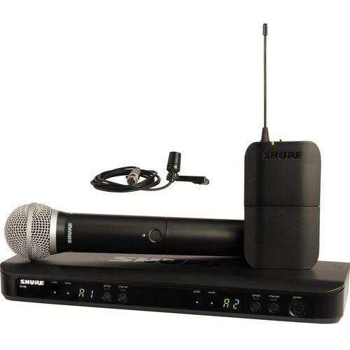blx 1288e/cvl zestaw bezprzewodowy z mikrofonem krawatowym i doręcznym marki Shure