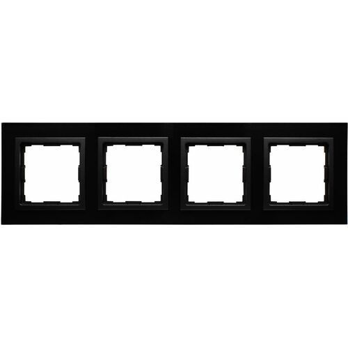 VENA2:XGlass CZARNY ramka x4, kolor czarny