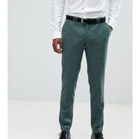 Noak Skinny Suit Trousers In Fleck - Green, kolor zielony