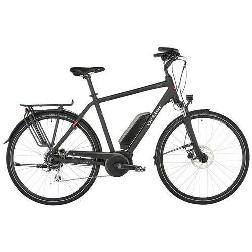 """bergen rower elektryczny trekkingowy czarny 60cm (28"""") 2018 rowery elektryczne marki Ortler"""