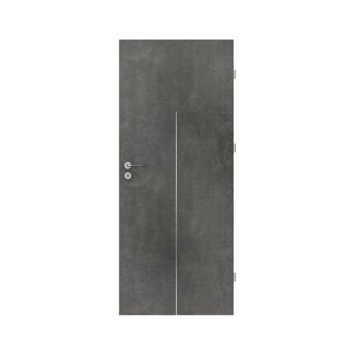 Porta Skrzydło drzwiowe line beton ciemny 90 prawe