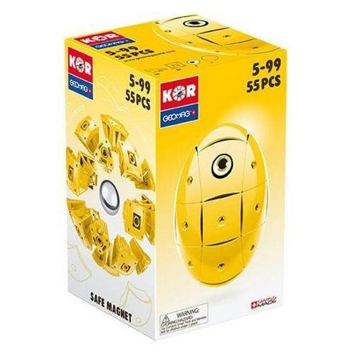 Klocki konstrukcyjne Geomag KOR Pantone 55 elementów - Żółty 0871772006756
