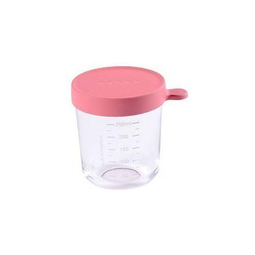 Pojemnik s�oiczek szklany z hermetycznym zamkni�ciem 250 ml Beaba (dark pink)