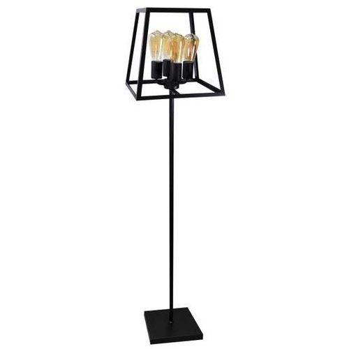 Stojąca LAMPA podłogowa FINLAND 308696 Polux metalowa OPRAWA salonowa klatka czarna
