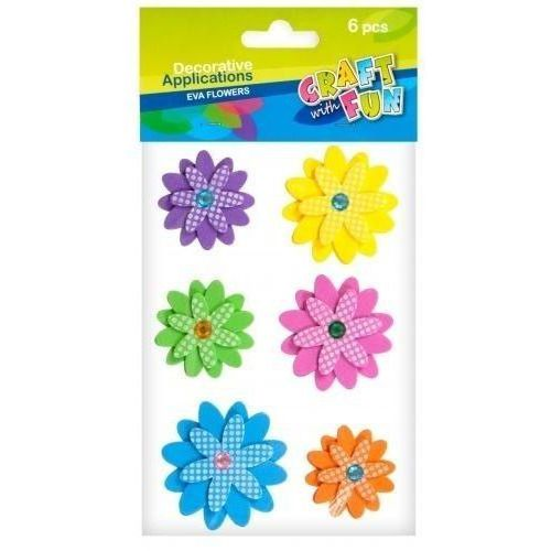 Craft with fun Ozdoba dekoracyjna samoprzylepne kwiaty pianka 6el