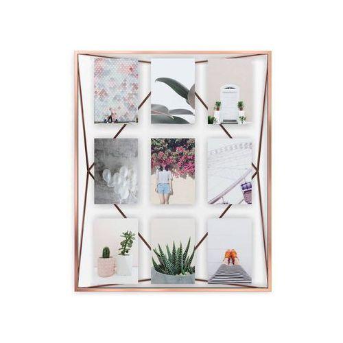 - ramka na zdjęcia edge 5x7 - drewno naturalne - miedziany marki Umbra