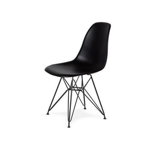 King home Krzesło do nowoczesnych jadalni na czarnym stelażu dsr black