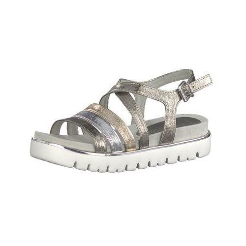 sandały z rzemykami złoty / szary / srebrny / biały marki Marco tozzi