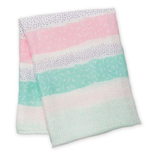 Lulujo Kocyk Bambusowy Pink Spotted Stripe, LJ129