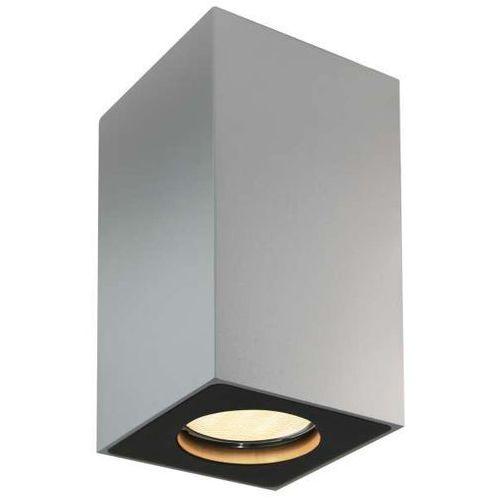 Kaspa Spot lampa sufitowa squar 13 70033104 metalowa oprawa natynkowa minimalistyczna prostokątna srebrna (5902047300080)