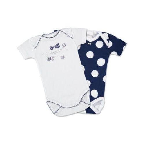 Absorba girls baby body z krótkim rękawem, 2 szt., kolor marine (3223771060425)