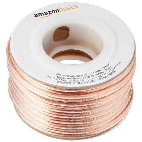 kabel głośnikowy grubość 1,3 mm²/16 gauge, długość 15,24 m marki Amazonbasics
