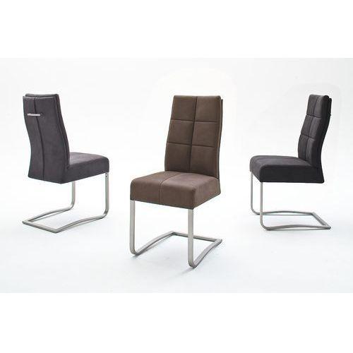 Krzesło na płozie SALVADOR II trzy kolory tkaniny antyk