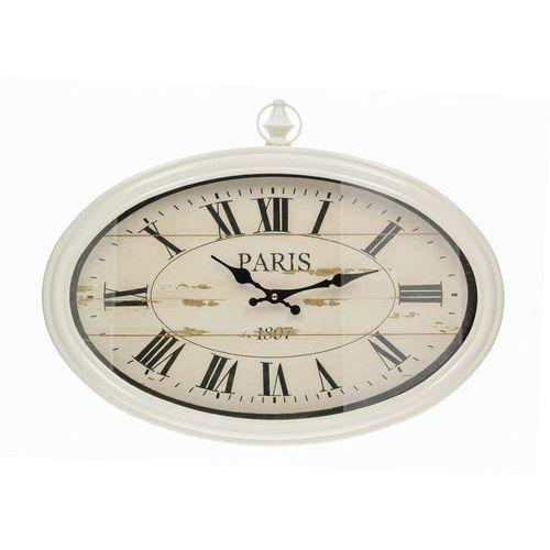 Dekoria zegar paris cream 50x5,5x39cm, 50 × 5,5 × 39 cm