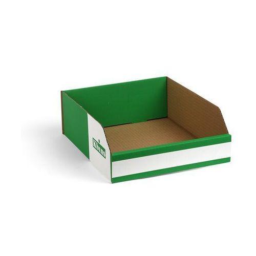 Skrzynki regałowe z kartonu, składane, opak. 150 szt., dł. x szer. x wys. 300x25 marki K bins limited