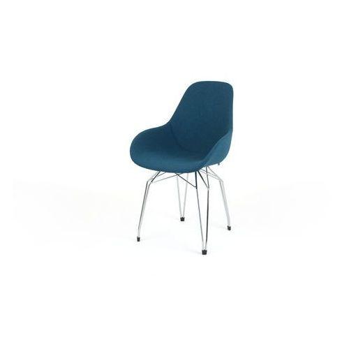 Kubikoff Krzesło DIAMOND BLACk or WHITE DIMPLE POP wełna diamonddimplepop-wool, kolor różowy