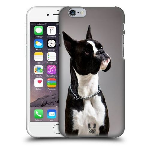 Etui plastikowe na telefon - Popular Dog Breeds BLACK AND WHITE DOG BOXER z kategorii Futerały i pokrowce do telefonów