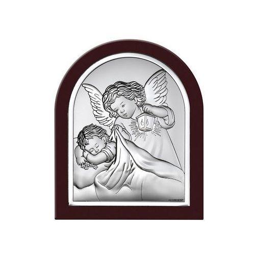 Obrazek Anioł Stróż z latarenką w ciemnej oprawie- (BC#6470WM)
