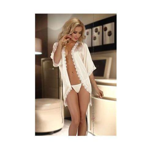 Komplet model shannon dressing gown ecru marki Beautynight