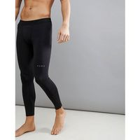Asos 4505 running tights with zips in black - black