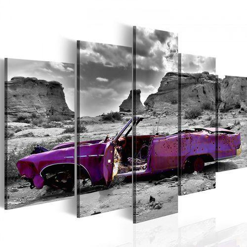 Obraz - samochód w stylu retro na pustyni kolorado - 5 części marki Artgeist