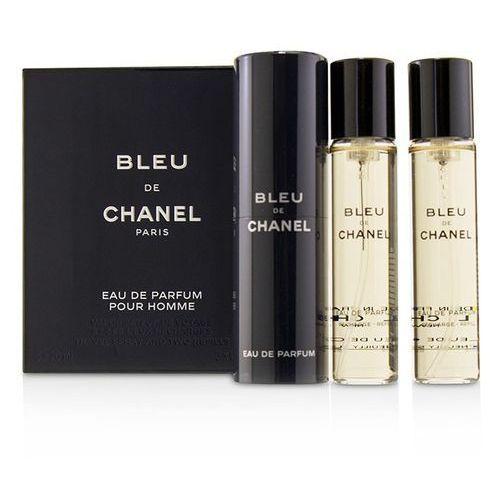 Chanel bleu de chanel 3x 20ml woda perfumowana twist and spray 60 ml dla mężczyzn (3145891073003)