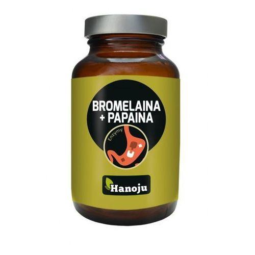 Bromelaina 200 mg + Papaina 170 mg (90 kaps.) (lek pozostałe leki chorób układu pokarmowego)